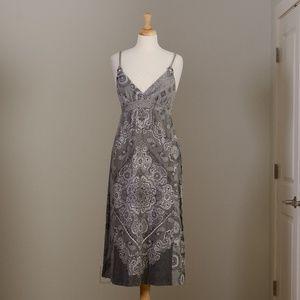 [Lucky Brand] cotton bandana dress w/ rope straps